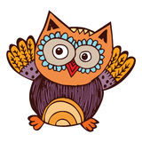 Owl Doodle Vector illustration stock