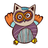 Owl Doodle Vector illustration de vecteur