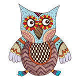 Owl Doodle Vector Royalty Free Stock Photography