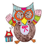 Owl Doodle Vector Stock Photography