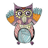 Owl Doodle Vector Royalty Free Stock Images
