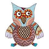 Owl Doodle Vetora Fotografia de Stock Royalty Free