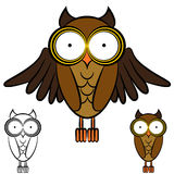Owl Drawing Royalty Free Stock Photography