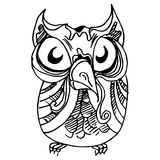 Owl Drawing Royalty Free Stock Photo