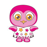 An owl in a dress in the stars. Stock Images