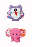 Owl and elephant craft, accessory Stock Image