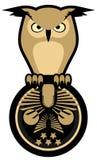 Owl emblem Stock Images