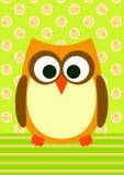 owl för kortdiagraminbjudan royaltyfri illustrationer