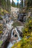 Owl Face Falls von Maligne-Schlucht Stockfoto
