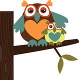 Owl Family royalty free illustration