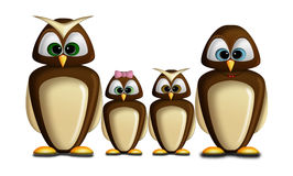 Owl family Stock Photography