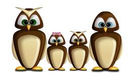 Owl family Stock Photography