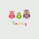 Owl Family Stockbild