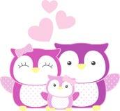 Owl Family Immagine Stock Libera da Diritti