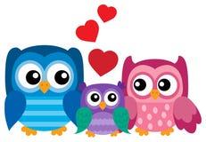 Owl family theme image 1 Royalty Free Stock Photography