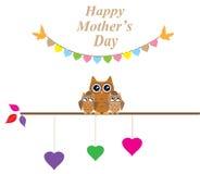 Owl Family Stock Photo