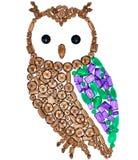 Owl Fashion Design Feng Shui Wealth Rich Symbol photo stock