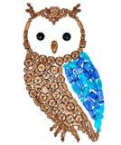 Owl Fashion Design Feng Shui Wealth Rich Symbol photo libre de droits