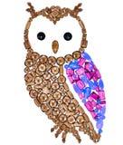 Owl Fashion Design Feng Shui Wealth Rich Symbol photos libres de droits