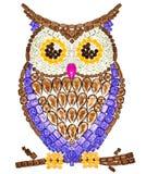 Owl Fashion Design Feng Shui Wealth Rich Symbol photographie stock