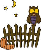 Owl On Fence Stock Photography