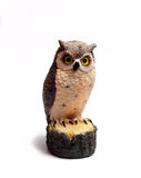 Owl figurine is made of wood Royalty Free Stock Images