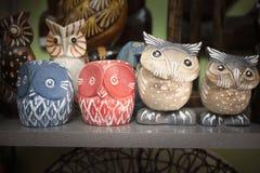 Owl figurines Royalty Free Stock Image