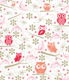Owl forest Royalty Free Stock Photo
