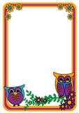Owl Frame Royalty-vrije Stock Afbeeldingen