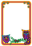 Owl Frame Royalty Free Stock Images