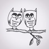 Owl free hand drawn Royalty Free Stock Image