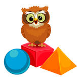 Owl with Geometric Shapes. Vector Illustration of an Owl with Geometric Shapes royalty free illustration