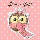Owl girl Stock Image