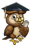 Owl Graduate Character sage illustration libre de droits