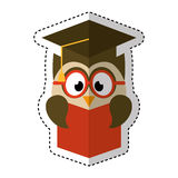 Owl with graduation hat Royalty Free Stock Photography
