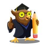 Owl Graduation Mascot Lizenzfreies Stockbild