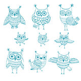 Owl graphic. Abstract Stock Photography