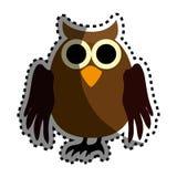Owl halloween card icon Stock Photography