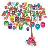 Owl handmade decor tree Royalty Free Stock Photos