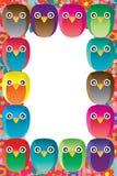 Owl handmade frame Stock Images