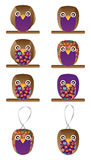 Owl handmade set Royalty Free Stock Photo