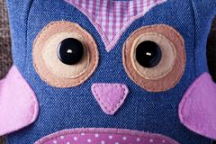 Owl handmade sewn Stock Photography