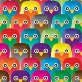 Owl handmade sit seamless pattern Stock Image