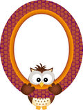 Owl hanging in a frame Stock Photo
