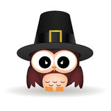 Owl and hat Stock Photography