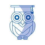 Owl with hat graduation Stock Image