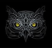 Owl head illustration Royalty Free Stock Photo