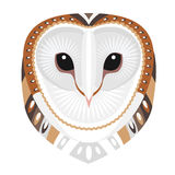 Owl Head Logo. Vector decorative Emblem. Stock Image