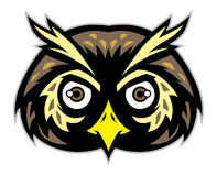 Owl head mascot Royalty Free Stock Photos