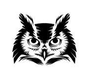 Owl head vector– stock illustration file. Owl head vector – stock illustration fileneditable vector file Royalty Free Stock Photos